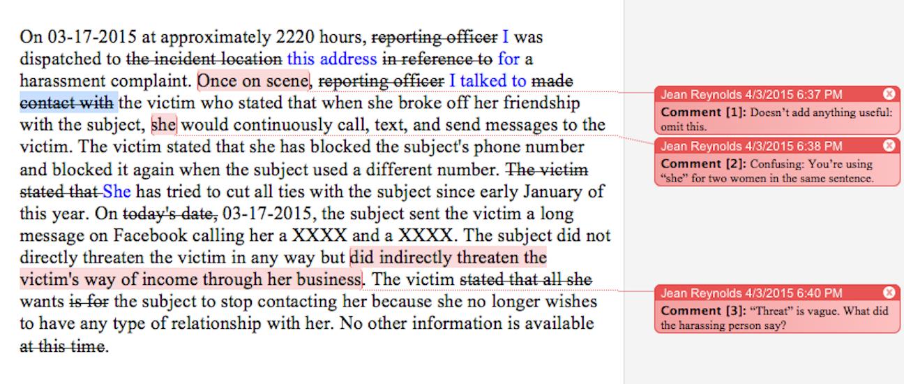 Harassment edited