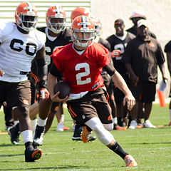 Johnny Manziel at Browns training camp