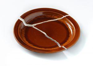 a broken dish